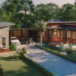 แบบบ้านสไตล์โมเดิร์นลอฟท์ ดีไซน์ตัวแอล ครบครันทุกพื้นที่พักผ่อน พร้อมบ้านหลังน้อยสำหรับรับแขก