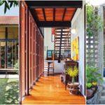 บ้านไทยประยุกต์ ผสมผสานกลิ่นอายศิลปะไทยกับเส้นสายสไตล์โมเดิร์นลอฟท์