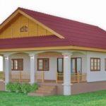 แบบบ้านชั้นเดียวเกษตรรวยทรัพย์ บ้านขนาด 4 ห้องนอน 2 ห้องน้ำ งบก่อสร้าง 1.6 ล้านบาท