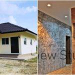 บ้านชั้นเดียวทรงปั้นหยา 2 ห้องนอน ภายนอกเรียบง่ายภายในสวยดิบ งบประมาณก่อสร้าง 550,000 บาท