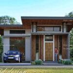 แบบบ้านพักอาศัยชั้นเดียว ดีไซน์สไตล์โมเดิร์น โดดเด่นด้วยการออกแบบทางเข้าแบบปูนเปลือย