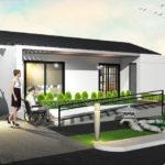 แบบบ้านชั้นเดียวสไตล์โมเดิร์นญี่ปุ่น ดีไซน์เพื่อผู้สูงอายุ และผู้ป่วยนั่งรถเข็น ขนาด 2 ห้องนอน 2 ห้องน้ำ