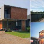 บ้านสองชั้นสไตล์โมเดิร์นลอฟท์ 3 ห้องนอน 3 ห้องน้ำ ดีไซน์โดดเด่นด้วยผนังปูนเปลือยและอิฐโชว์แนว