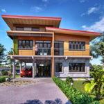 แบบบ้านสองชั้นครึ่งไม้ครึ่งปูน 3 ห้องนอน 2 ห้องน้ำ งบก่อสร้าง 2 ล้านบาท