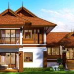 แบบบ้านทรงไทยประยุกต์ ขนาดสองชั้น 4 ห้องนอน 3 ห้องน้ำ งบประมาณก่อสร้างเริ่มต้น 1.6 ล้านบาท