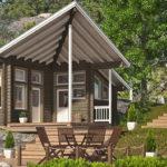 แบบบ้านชั้นเดียวสไตล์คันทรี หลังคาดีไซน์ทรงสามเหลี่ยม ออกแบบเพื่อเป็นบ้านพักสไตล์รีสอร์ท