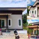 บ้านโมเดิร์นราคาประหยัด ขนาดกะทัดรัด 2 ห้องนอน 1 ห้องน้ำ งบประมาณก่อสร้าง 350,000 บาท