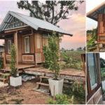 บ้านไม้หลังน้อยสไตล์คันทรี ก่อสร้างจากเศษไม้ บ้านหลังน้อยที่เต็มไปด้วยความอบอุ่น