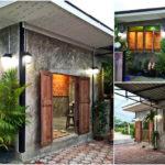 บ้านปูนลอฟท์กะทัดรัด โดดเด่นด้วยผนังอิฐโชว์แนว ออกแบบเพื่อการพักผ่อนส่วนตัว งบก่อสร้าง 150,000 บาท