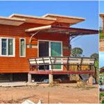 บ้านไม้กึ่งปูน ดีไซน์กะทัดรัดน่าอยู่ พร้อมฟังก์ชันใช้งานครบครัน เหมาะสำหรับครอบครัวเริ่มต้น