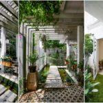 บ้านโฮมออฟฟิศ ดีไซน์สุดชิค เผยเสน่ห์ของปูนเปลือย พร้อมสวนพักผ่อนรอบบ้าน