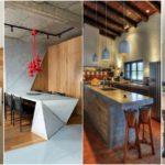 """25 ไอเดีย """"โต๊ะไอส์แลนด์สไตล์อินดัสเทรียล"""" เปลี่ยนห้องครัวเรียบๆ ให้สวยดิบโดนใจ พร้อมฟังก์ชันใช้งานสุดสะดวก"""