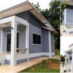 บ้านหลังเล็กสไตล์โมเดิร์น ขนาด 2 ห้องนอน 1 ห้องน้ำ งบก่อสร้างเริ่มต้น 600,000 บาท