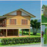 แบบบ้านยกพื้นสูงสไตล์ไทยร่วมสมัย โดดเด่นด้วยงานไม้ พร้อมกลิ่นอายการพักผ่อนแบบชนบท