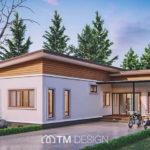แบบบ้านสไตล์โมเดิร์น ออกแบบเพื่อครอบครัวขนาดใหญ่ 4 ห้องนอน 3 ห้องน้ำ งบก่อสร้าง 2.5 ล้านบาท