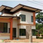บ้านสองชั้นสไตล์โมเดิร์น ตกแต่งภายนอกด้วยโทนสีอ่อนโยน ขนาด 4 ห้องนอน 3 ห้องน้ำ