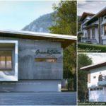 แบบบ้านสองชั้นสไตล์โมเดิร์น พร้อมพื้นที่ใช้สอยเพิ่มเติมสำหรับการทำธุรกิจ