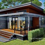 แบบบ้านยกพื้น สไตล์โมเดิร์นลอฟท์ สวยงามด้วยงานปูนเปลือยและไม้  3 ห้องนอน 2 ห้องน้ำ งบก่อสร้าง 1.1 ล้านบาท