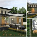 """แบบบ้านสไตล์โมเดิร์น ผสานการก่อสร้างระหว่าง """"บ้านน็อคดาวน์"""" และ """"คอนกรีตเสริมเหล็ก"""" สร้างได้ด้วยงบไม่เกิน 500,000 บาท"""