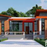 แบบบ้านสไตล์โมเดิร์นรูปทรงตัวแอล (L-Shaped House) ตกแต่งด้วยอิฐโชว์แนวและปูนเปลือย งบก่อสร้างเริ่มต้นที่ 1.3 ล้านบาท