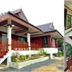 บ้านทรงไทยประยุกต์ ผสมผสานความทันสมัยและความดั้งเดิม 3 ห้องนอน 2 ห้องน้ำ งบก่อสร้าง 1.8 ล้านบาท