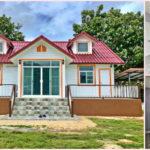 บ้านสไตล์อิงลิชคอทเทจ ดีไซน์สุดน่ารัก 2 ห้องนอน 1 ห้องน้ำ พร้อมเฉลียงรับลมรอบบ้าน