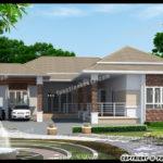 แบบบ้านชั้นเดียวทรงตัวแอล สไตล์คอนเทมโพรารี สำหรับครอบครัวขนาดใหญ่ 3 ห้องนอน 3 ห้องน้ำ พื้นที่ใช้สอย 118 ตารางเมตร
