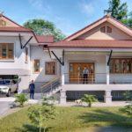 แบบบ้านสไตล์ไทยประยุกต์ 3 ห้องนอน 2 ห้องน้ำ พร้อมพื้นที่ใช้สอย 255 ตารางเมตร