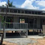 บ้านน็อคดาวน์โครงสร้างเหล็ก พร้อมระเบียงกว้าง 2 ห้องนอน 2 ห้องน้ำ งบก่อสร้างอยู่ที่ 650,000 บาท