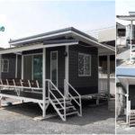 บ้านน็อคดาวน์โครงสร้างเหล็ก หลังเล็กเคลื่อนย้ายสะดวก เหมาะสำหรับธุรกิจรีสอร์ท