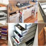 """12 ไอเดีย """"ตู้เคาน์เตอร์ครัวประหยัดพื้นที่"""" ให้ของใช้ในครัวเป็นระเบียบ ด้วยช่องเก็บของสุดอัจฉริยะ"""