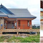 บ้านยกพื้นต่ำรูปทรงร่วมสมัย หลังคาทรงมะนิลา 2 ห้องนอน 2 ห้องน้ำ งบก่อสร้าง 1.65 ล้านบาท