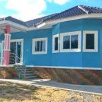 บ้านยกพื้นสูงชั้นเดียว สไตล์คอนเทมโพรารี 3 ห้องนอน 1 ห้องน้ำ งบก่อสร้าง 850,000 บาท