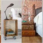 """28 ไอเดีย DIY เปลี่ยนของเหลือใช้ในบ้านให้กลายเป็น """"โต๊ะข้างเตียง"""" ตกแต่งห้องนอนให้โดดเด่นไม่เหมือนใคร"""