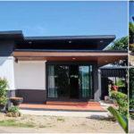 แบบบ้านชั้นเดียวขนาดกะทัดรัด ตกแต่งแนวโมเดิร์น 2 ห้องนอน 1 ห้องน้ำ พร้อมครัวไทยหลังบ้าน