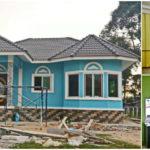 บ้านสไตล์ร่วมสมัย โดดเด่นในโทนสีฟ้าสดใส 2 ห้องนอน 1 ห้องน้ำ พร้อมพื้นที่ใช้สอยครบครัน