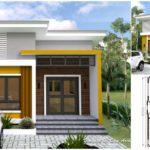 แบบบ้านสไตล์โมเดิร์น โทนสีเหลืองสะดุดตา ดีไซน์กะทัดรัด 2 ห้องนอน 1 ห้องน้ำ