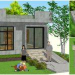 แบบบ้านปูนเปลือยสไตล์รีสอร์ท พื้นที่ใช้สอยกะทัดรัด 25 ตารางเมตร พร้อมดาดฟ้าชมวิว