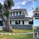 บ้านสองชั้นสไตล์ร่วมสมัย ดีไซน์เรียบหรู แวดล้อมด้วยสวนเขียวชอุ่ม เหมาะสำหรับพักผ่อนร่วมกับครอบครัว