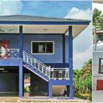 บ้านชั้นครึ่งแนวร่วมสมัย 2 ห้องนอน 2 ห้องน้ำ ตัวบ้านยกสูงพร้อมพื้นที่ใช้งานอเนกประสงค์