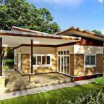 แบบบ้านสไตล์โมเดิร์น ตกแต่งในบรรยากาศอบอุ่น 2 ห้องนอน 2 ห้องน้ำ งบประมาณก่อสร้างประมาณ 840,000 บาท