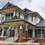 บ้านสองชั้นยกพื้นสูง ทรงไทยประยุกต์ 5 ห้องนอน 2 ห้องน้ำ งบประมาณ 2.9 ล้านบาท