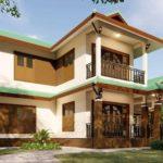 แบบบ้านสองชั้นทรงไทยประยุกต์ สวยเด่นด้วยหลังคาทรงมะนิลา ขนาด 4 ห้องนอน 2 ห้องน้ำ