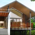 แบบบ้านหลังเล็กสไตล์โมเดิร์น ทรอปิคอล ไอเดียยกใต้ถุนสูงแบบบ้านทรงไทย ขนาด 2 ห้องนอน 2 ห้องน้ำ