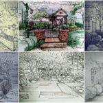 """รวม 30 """"ภาพสเก็ตซ์งานจัดสวน"""" ไอเดียและแรงบันดาลใจเพื่อคนรักสวนสวย"""