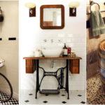"""15 ไอเดียรีไซเคิล """"ของใช้เก่า"""" ให้เป็น """"อ่างล้างหน้า"""" สร้างบรรยากาศแบบวินเทจภายในห้องน้ำ"""