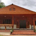 บ้านชั้นเดียวครึ่งไม้ครึ่งปูนสไตล์บ้านชนบท 3 ห้องน้ำ 2 ห้องน้ำ งบประมาณ 600,000 บาท