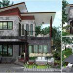 แบบบ้านโมเดิร์นลอฟท์ ดีไซน์บ้านตัวแอล 2 ชั้น 2 ห้องนอน 2 ห้องน้ำ พื้นที่ใช้สอย 120 ตารางเมตร