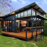 บ้านตากอากาศแนวโมเดิร์น ตกแต่งเรียบหรู ในพื้นที่ใช้สอย 60 ตารางเมตร โอบล้อมด้วยเฉลียงพักผ่อน