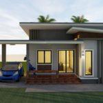 แบบบ้านโมเดิร์น 3 ห้องนอน 1 ห้องน้ำ พื้นที่ใช้สอย 100 ตารางเมตร สำหรับครอบครัวเริ่มต้น